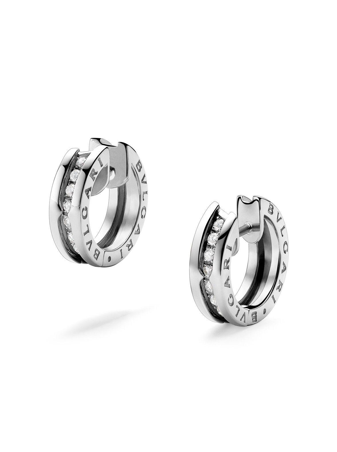 bvlgari white gold small earrings at london jewelers