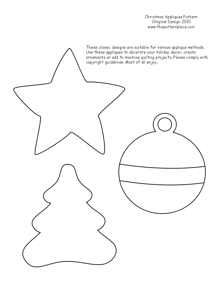 Free Printable Christmas Ornaments.Printable Christmas Ornament Patterns The Pattern Place