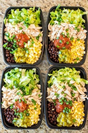No-Cook Meal Prep Burrito Bowls images