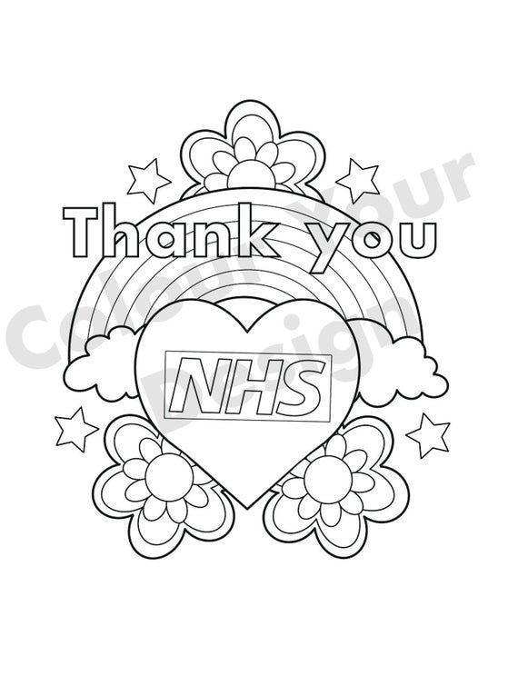Thank You Nhs Colouring Sheet Lego Coloring Pages Nhs Coloring Sheets