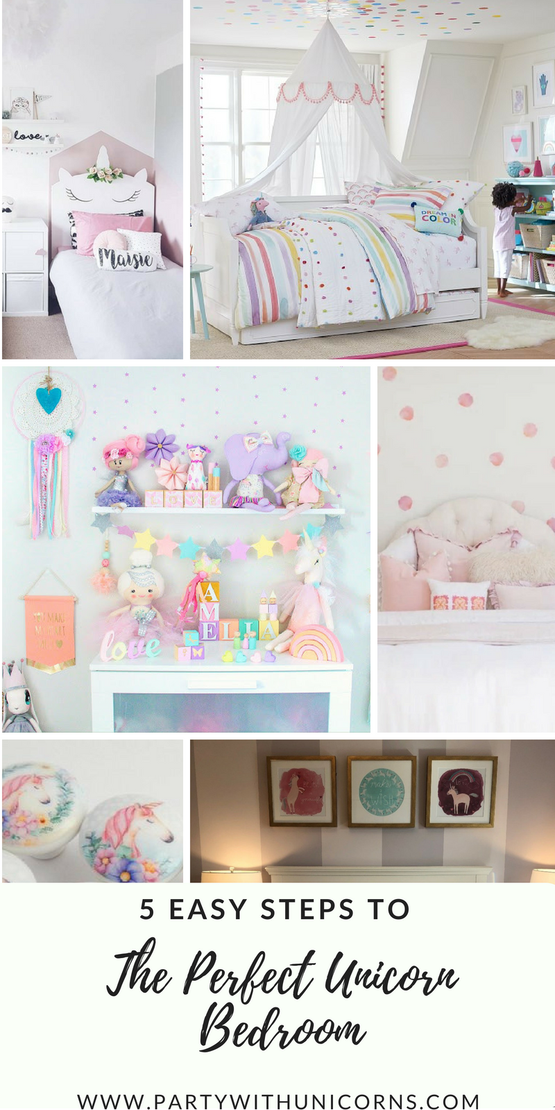 Unicorn Bedroom Ideas 5 Simple Steps Party With Unicorns Unicorn Bedroom Decor Unicorn Bedroom Kids Unicorn Room Decor