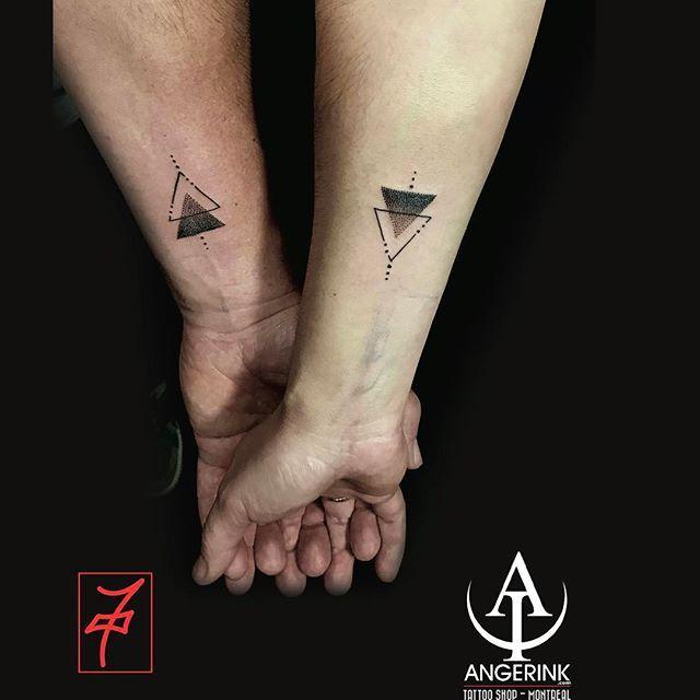 60+ linear triangle tattoo art design ideas