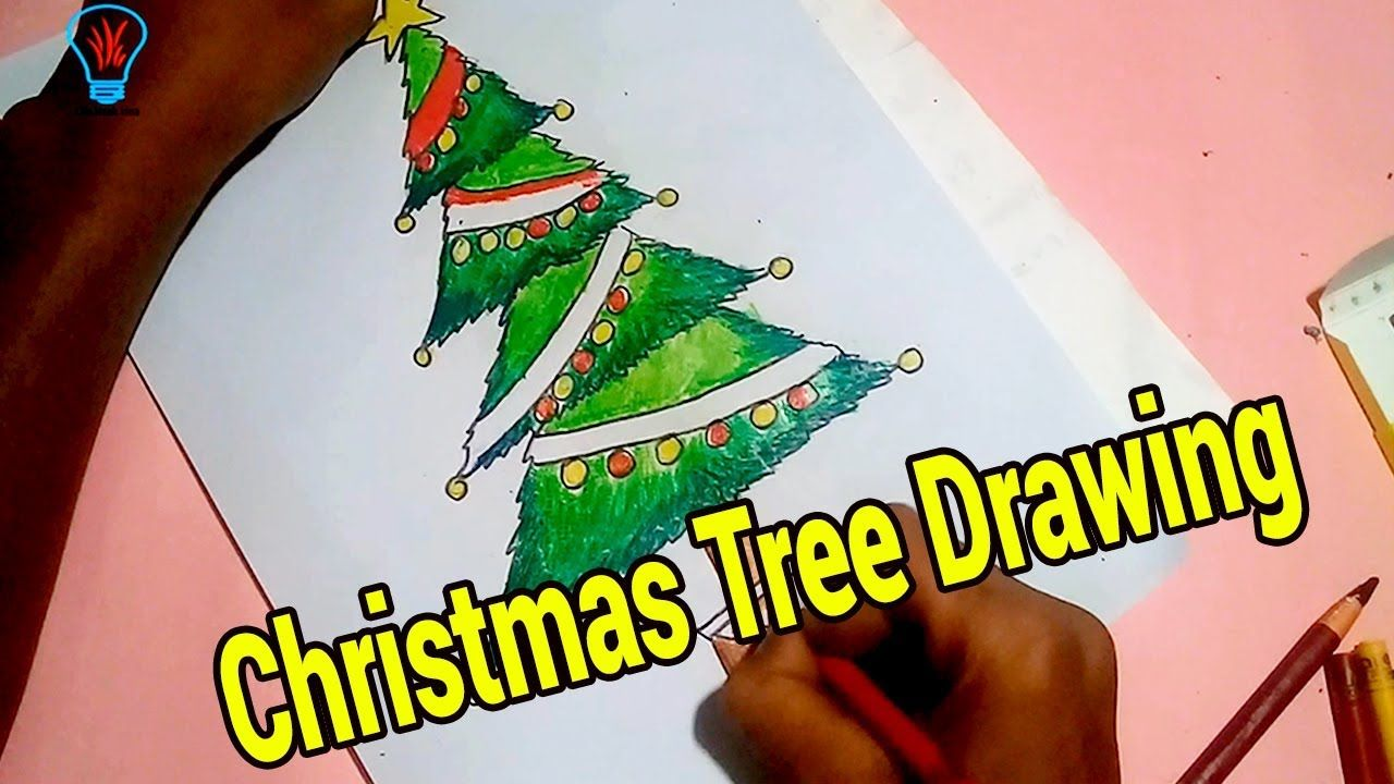 Creative Christmas Tree Idea How To Draw A Christmas Tree And Star Easy Life Hack Idea1 Christmas Tree Drawing Creative Christmas Trees Creative Christmas