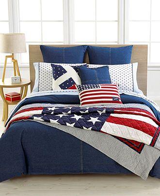 Tommy Hilfiger Denim Bedding Collection Quilts Bedspreads Bed Bath Macy S Tommy Hilfiger Bedding Denim Comforter Comforter Sets