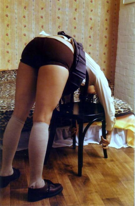 brown spank  School Uniform Knickers