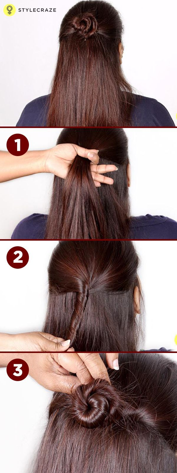 The halfupdo a step by step tutorial hair pinterest half