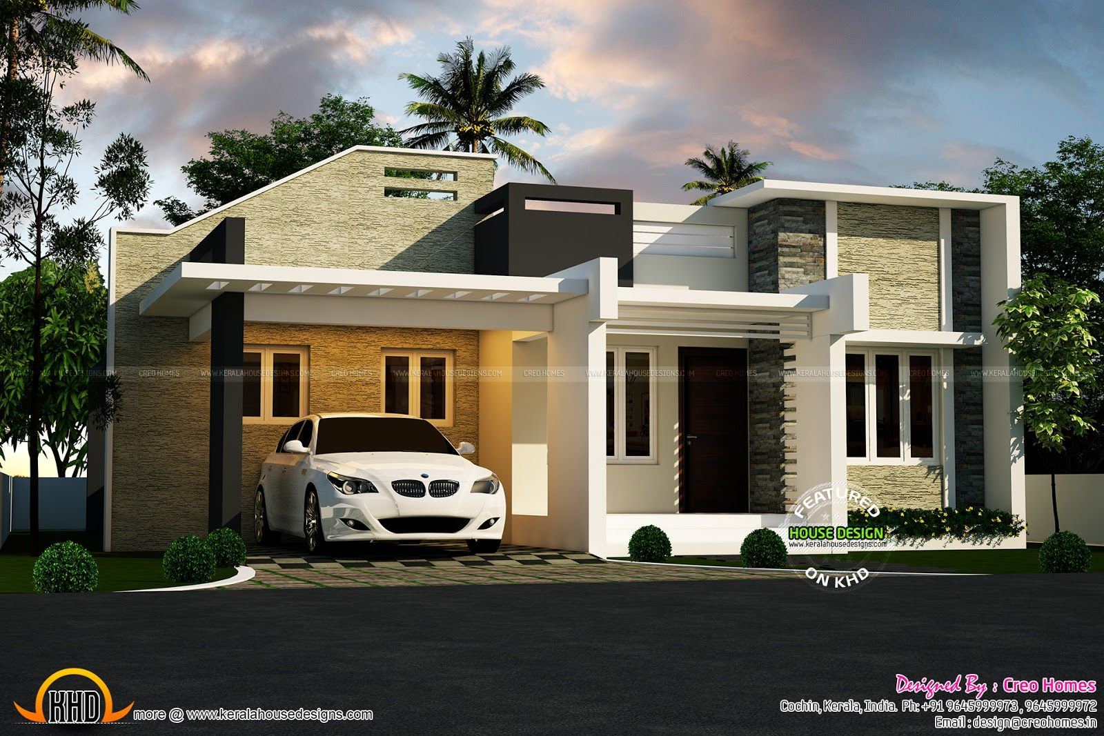 Beautiful Small House Plans Bedroom Modern Tamil Design Home Kerala