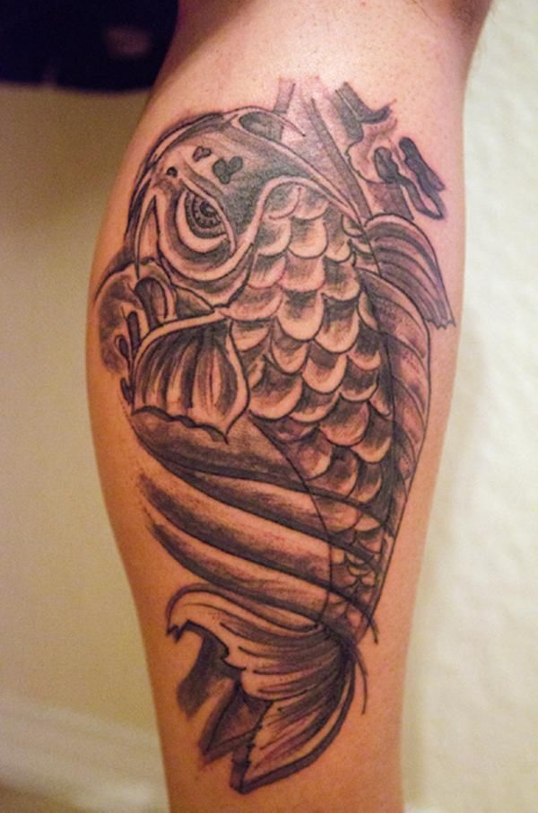 Chinese koi fish tattoo on half sleeve and shoulder ink for Vag tattoos ideas