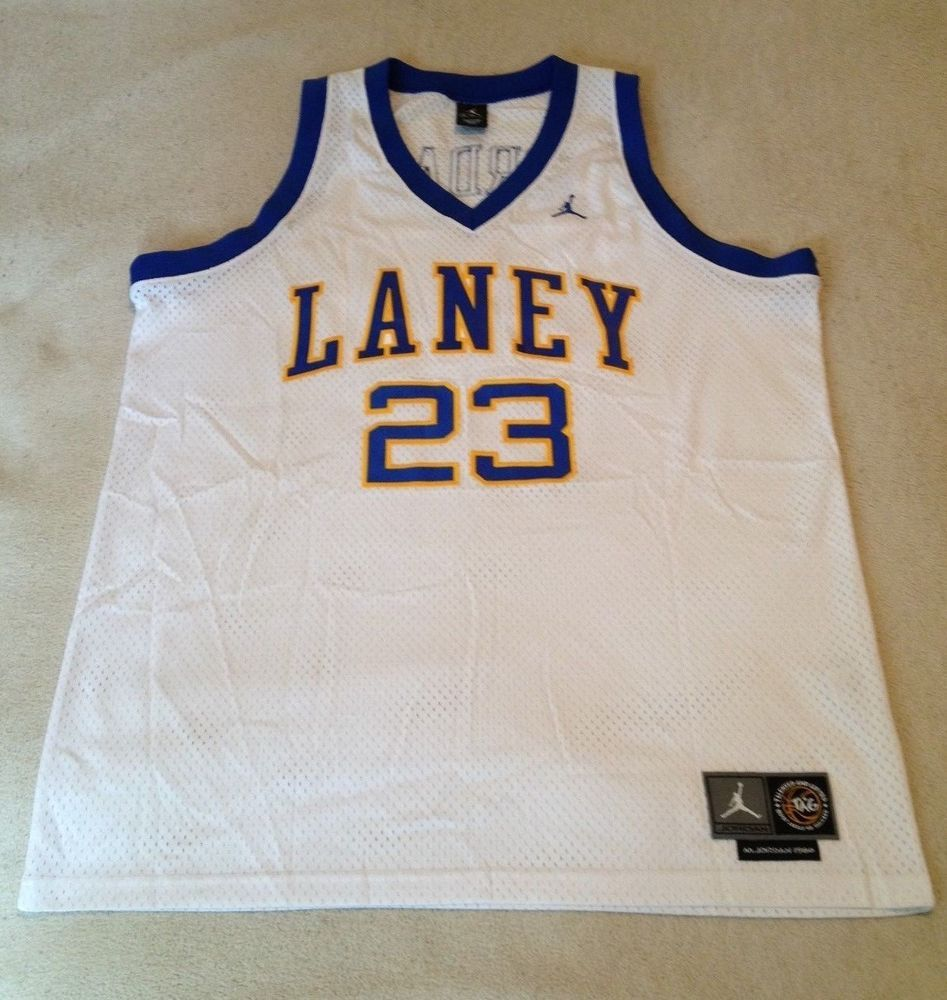 lowest price f1ff6 93a8c Details about Nike Vintage Michael Jordan Laney High School ...