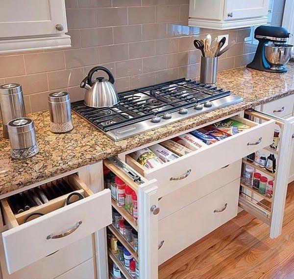 Armarios para Ahorrar el espacio en Cocinas Pequeñas | Cosas para ...