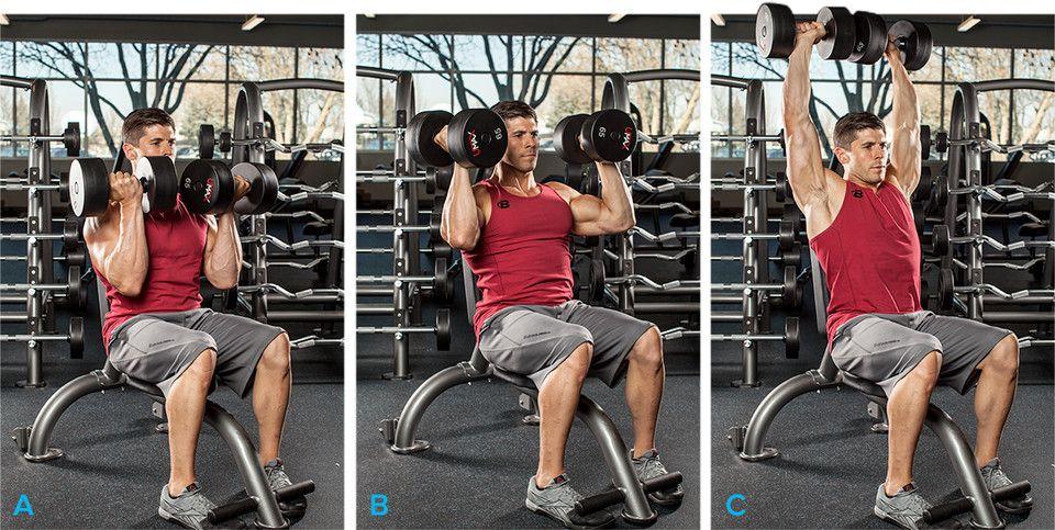 Seated Arnold Press Shoulder Exercise Men S Fitness Md Fitness 805 Shoulder Workouts For Men Shoulder Workout Deltoid Workout