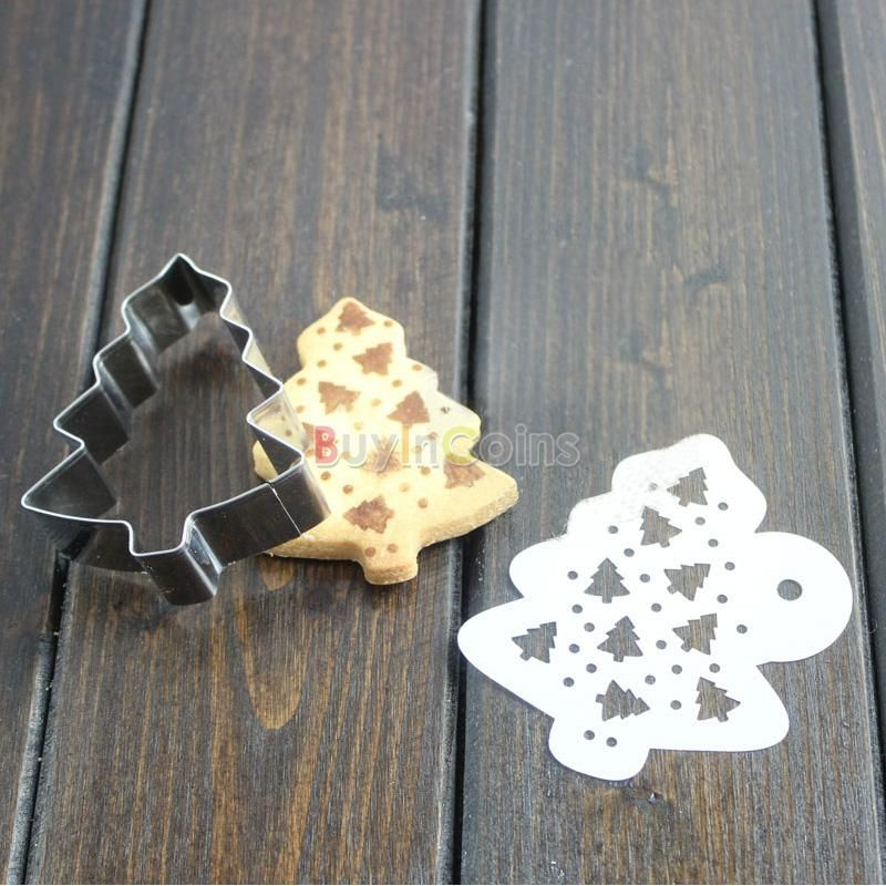 Xmas Tree Cookie Cutter Biscuit Molds Metal DIY Tools Cake Decor