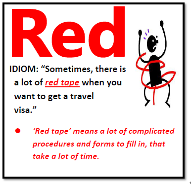red idiom | Idioms | English idioms, English language ...