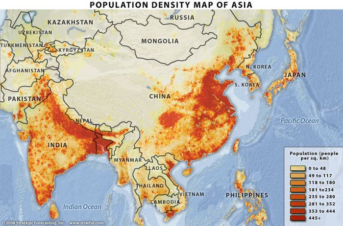 Population densities of SE Asia Geography Awareness Week 11 2013 - new world map by population
