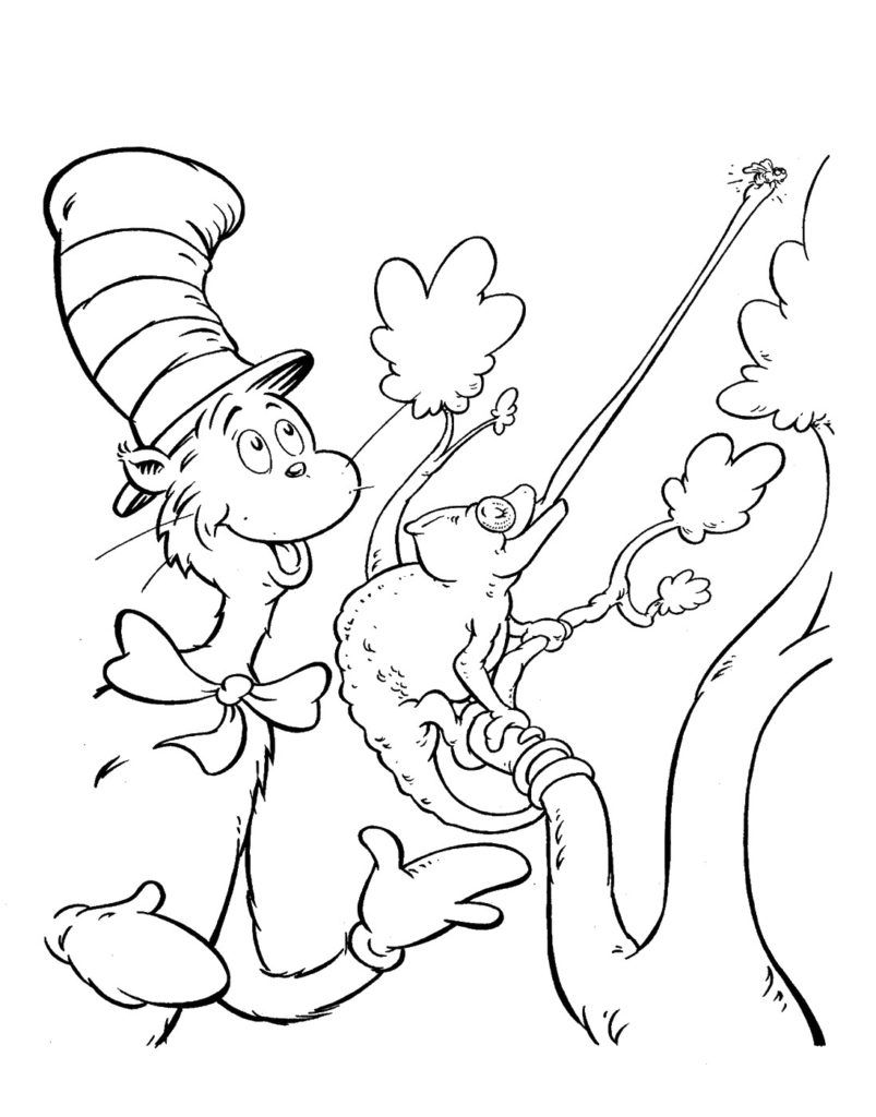 Cat In The Hat Coloring Pages In 2020 Cartoon Coloring Pages Halloween Coloring Pages Birthday Coloring Pages
