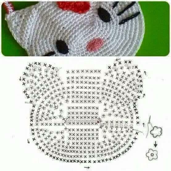 Hello Kitty Tasche häkeln | Handarbeit | Pinterest | Tasche häkeln ...