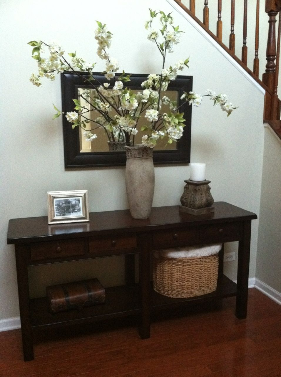 Love This Pottery Barn Look Alike Entry Table Vase Etc
