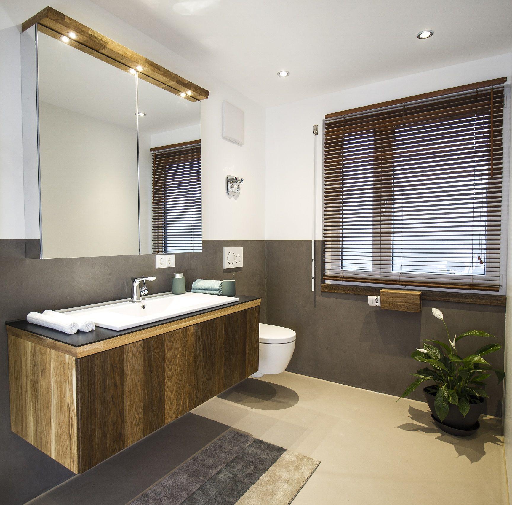 Wohntrends Eiche Gerauchert In Kombination Mit Einem Lavastyle Gussboden Wohnen Badezimmereinrichtung Wohntrends
