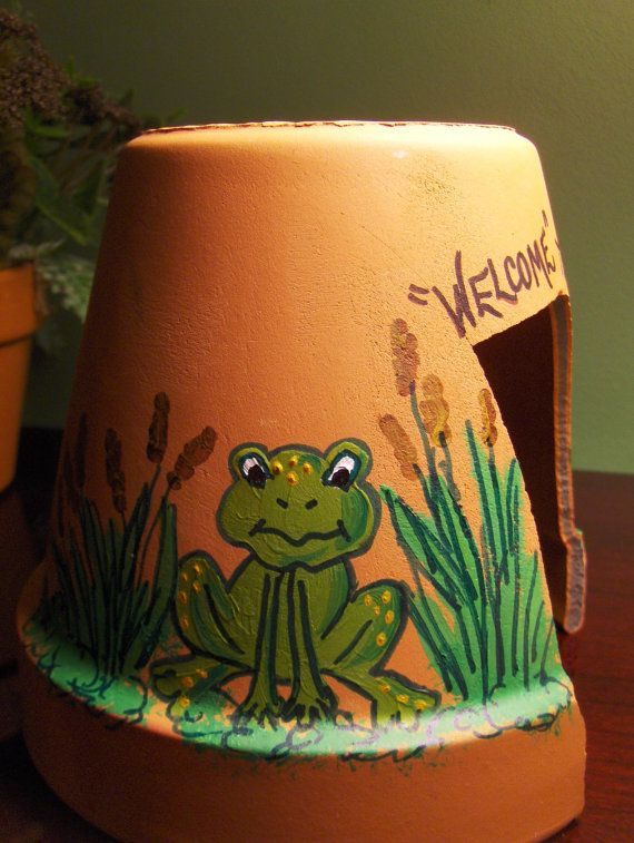 A cute home for the toads in your garden-and every garden needs a toad or two to control pesky bugs.