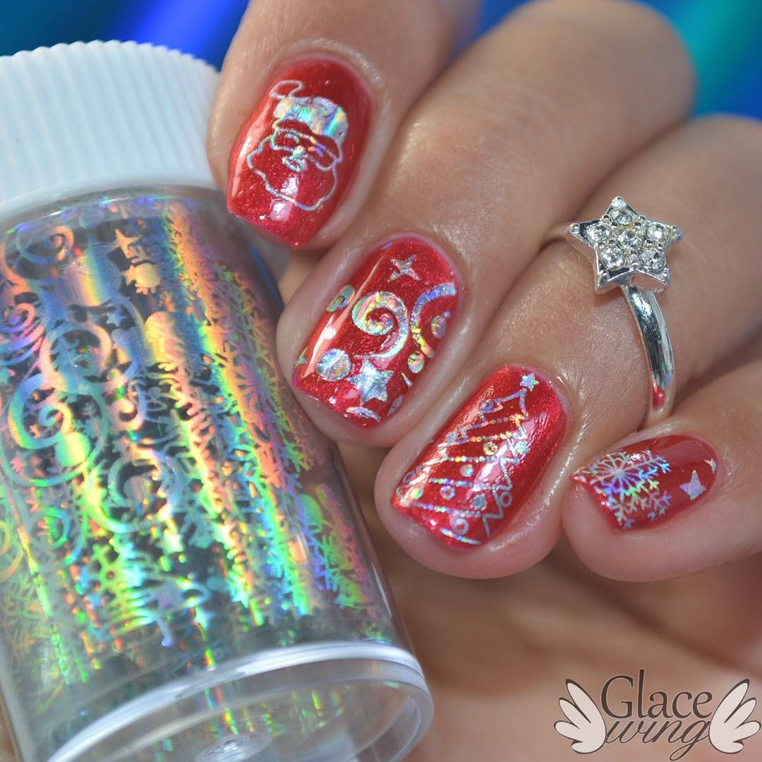Christmas holo nail foil stickers, see more details shared in ...