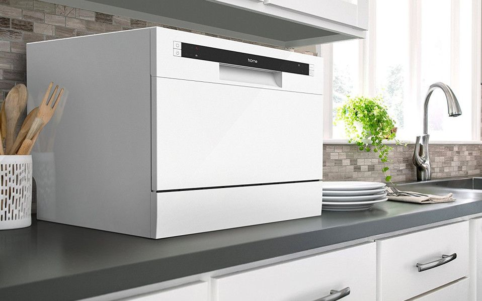 This Mini Dishwasher Is Smaller Than A Microwave And Fits On Your Countertop Countertop Dishwasher Mini Dishwasher Best Dishwasher