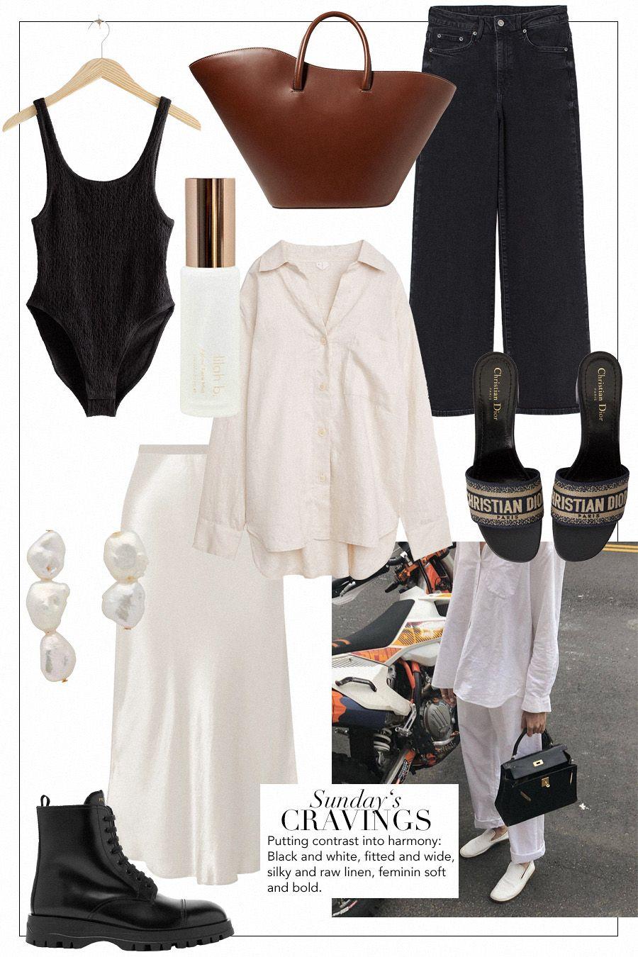 Bathing suit& Other Stories Face mistLilah B. Tote bagLittle Liffner JeansH&M Linen shirtArket