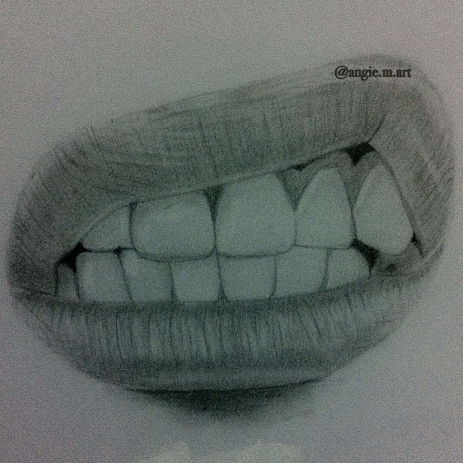 This is an image of Terrible Angry Mouth Drawing