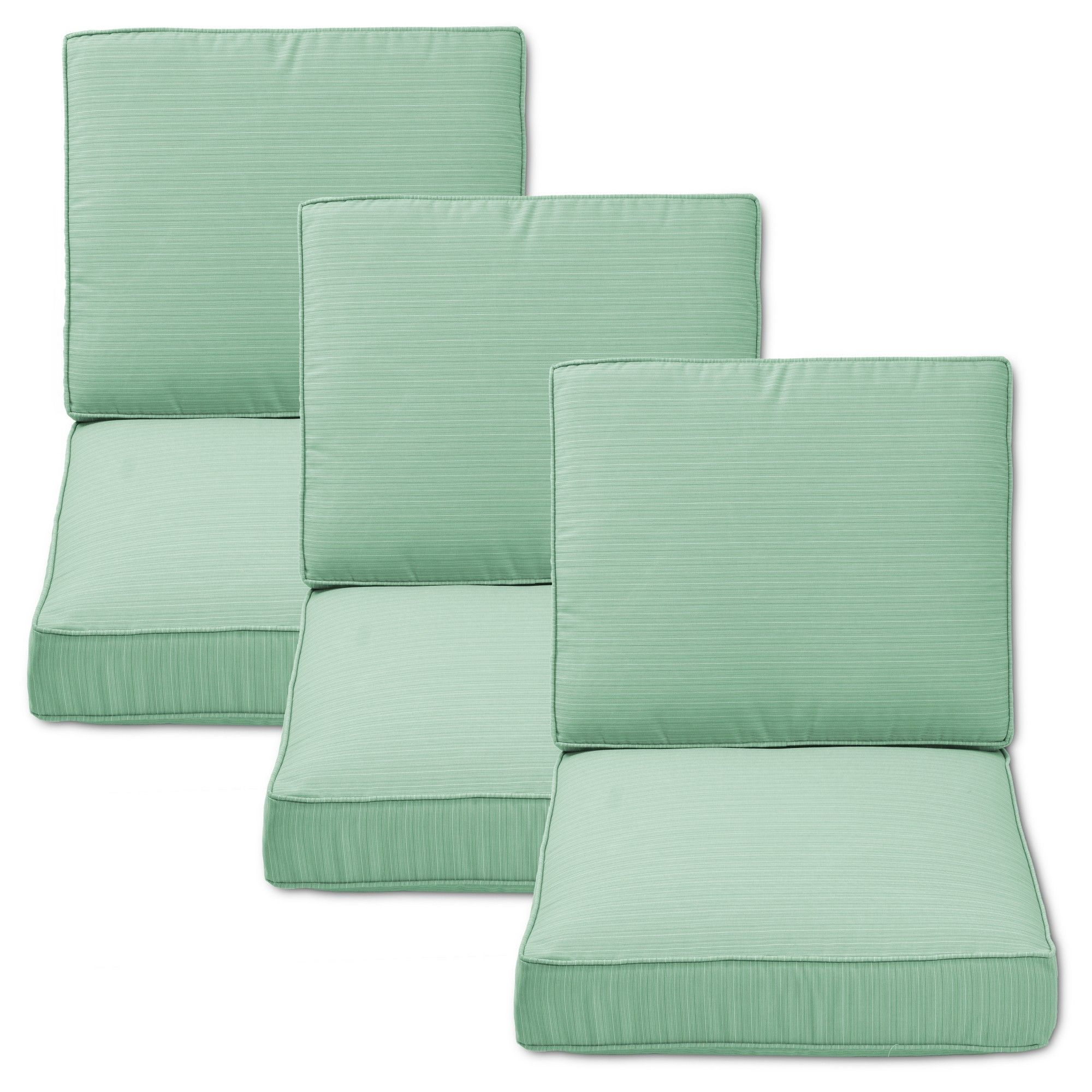 Belvedere piece outdoor replacement patio sofa cushion set