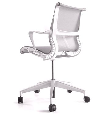In Stock Herman Miller Setu Studio White Edition Alloy Base Office Chairs Uk Chair White Office Chair Setu Chair