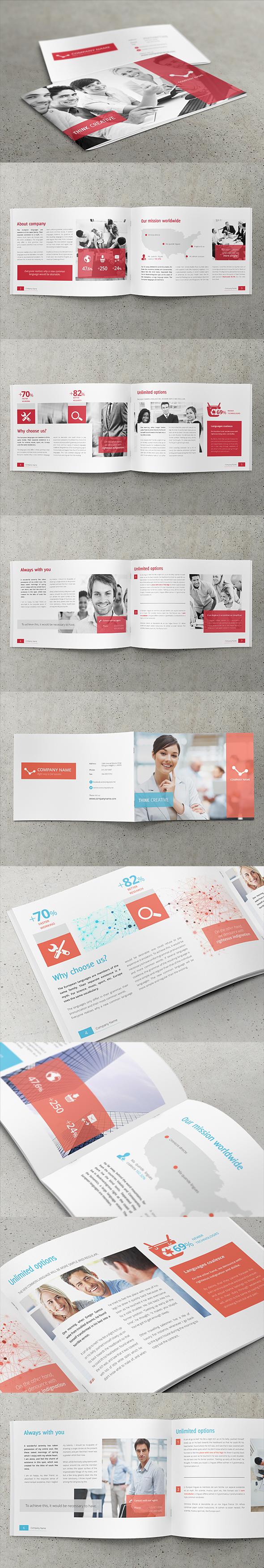 Business, Corporate Multipurpose A4 Brochure #2 by Przemyslaw S, via Behance