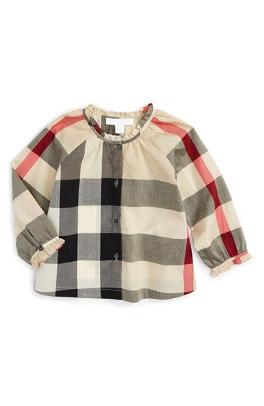 1fa29d5553df4 Burberry  Marelle  Check Print Top (Baby Girls)