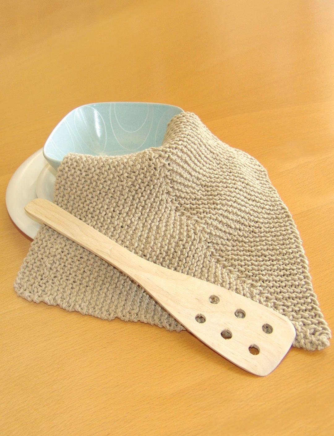 Yarnspirations.com - Bernat Mitered Dishcloth - Patterns ...
