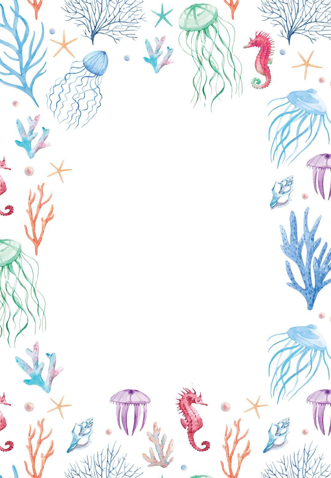 under the sea baby shower invitation template free. Black Bedroom Furniture Sets. Home Design Ideas