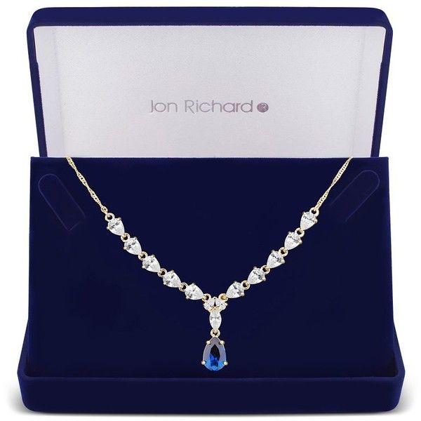 Jon Richard Women's Cubic zirconia peardrop necklace in a gift box jWq1e