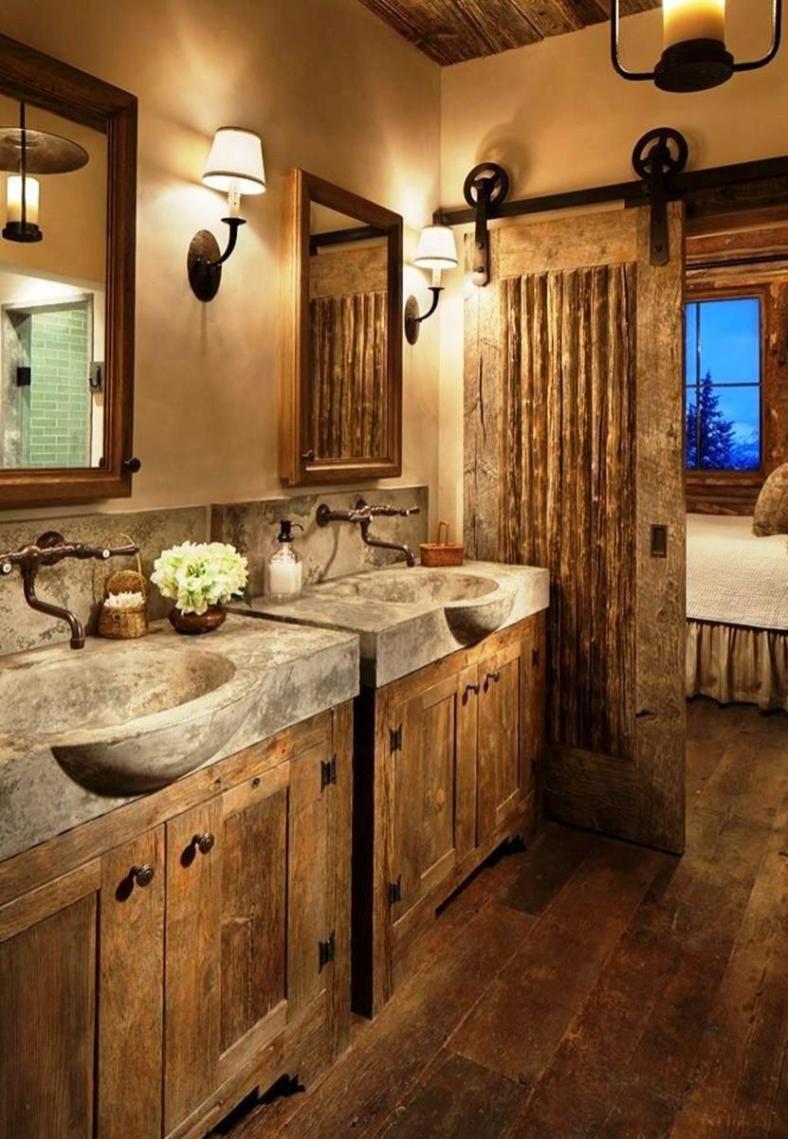 30+ Rustic Brick Bathroom Design Ideas (With images ...