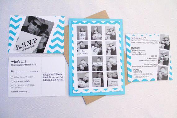 Casual Photo Strip Wedding Invitation \