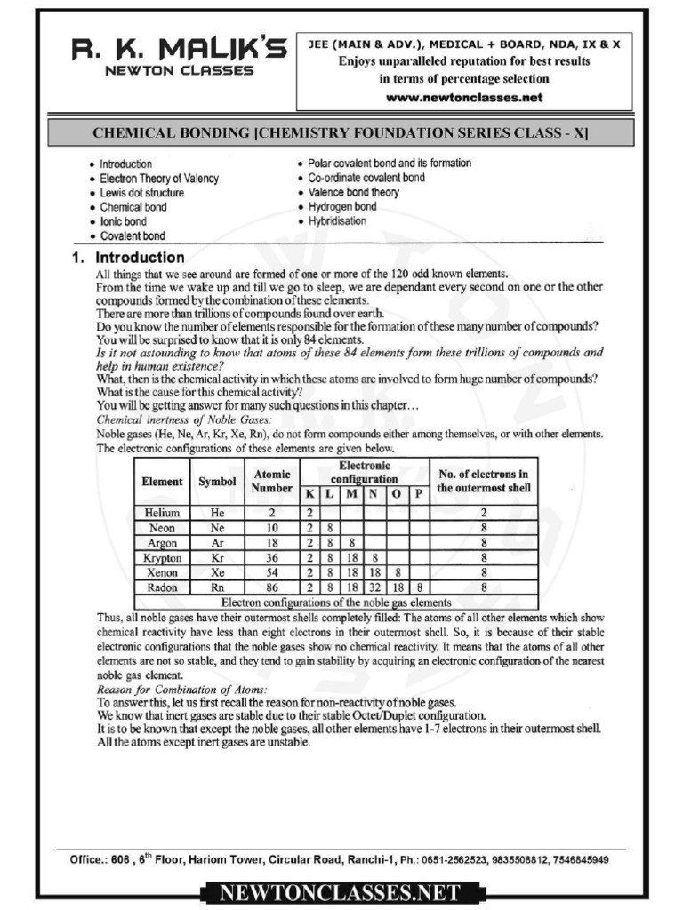 Chemical Bonding Worksheet Pdf 3 Chemical Bonding Worksheets Seasons Worksheets Kindergarten Math Worksheets