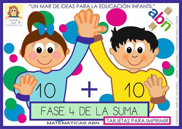 Matemáticas Abn Fases De Las Tabla De La Suma Fase 4 Material Para Imprimir Matematicas Metodo Abn Infantil Decenas Y Unidades