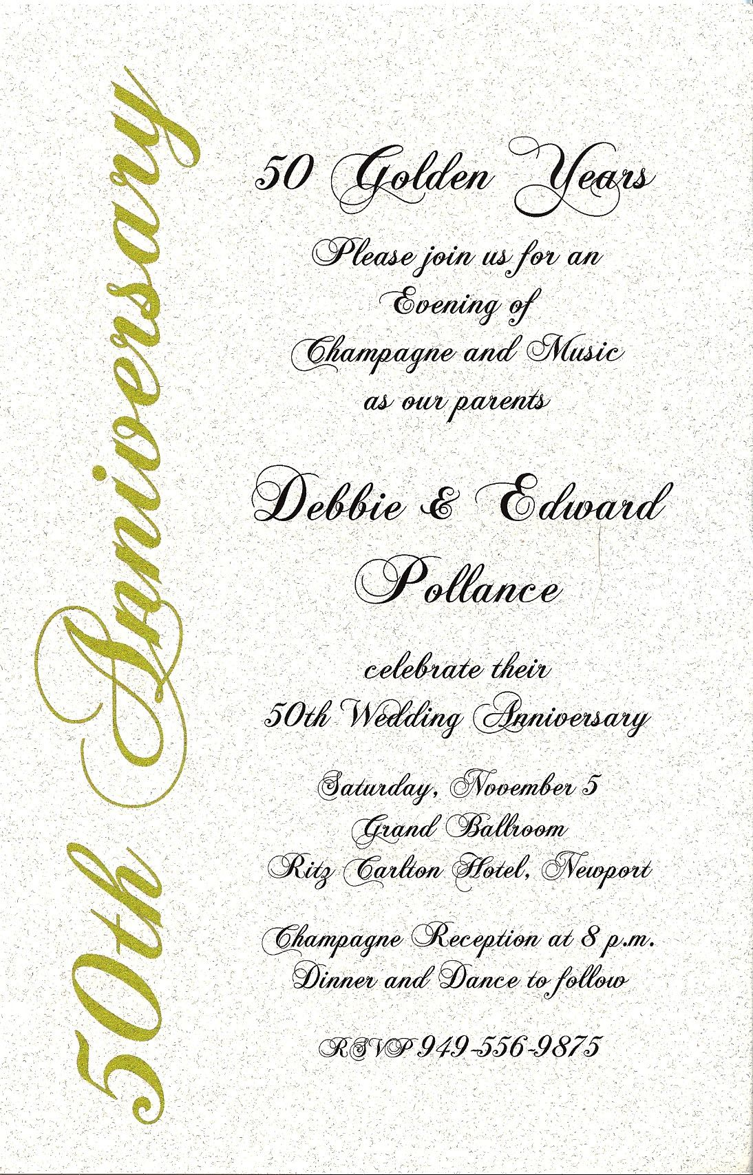 50 Anniversary Invitations 50th Anniversary Previous In Anniversary Invitations Next In 50th Anniversary Invitations 50th Wedding Anniversary 50th Wedding