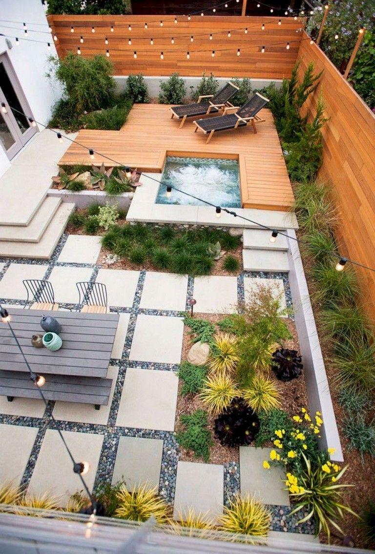 50 Astonishing Modern Backyard Landscaping Design Ideas Halaman Belakang Modern Desain Patio Desain Kolam Kecil Modern backyard deck design ideas