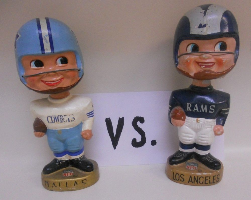 Ebay Sponsored Vintage Los Angeles Rams Football Nodder Bobblehead From 1960s Made In Japan Rams Football Vintage Los Angeles Bobble Head