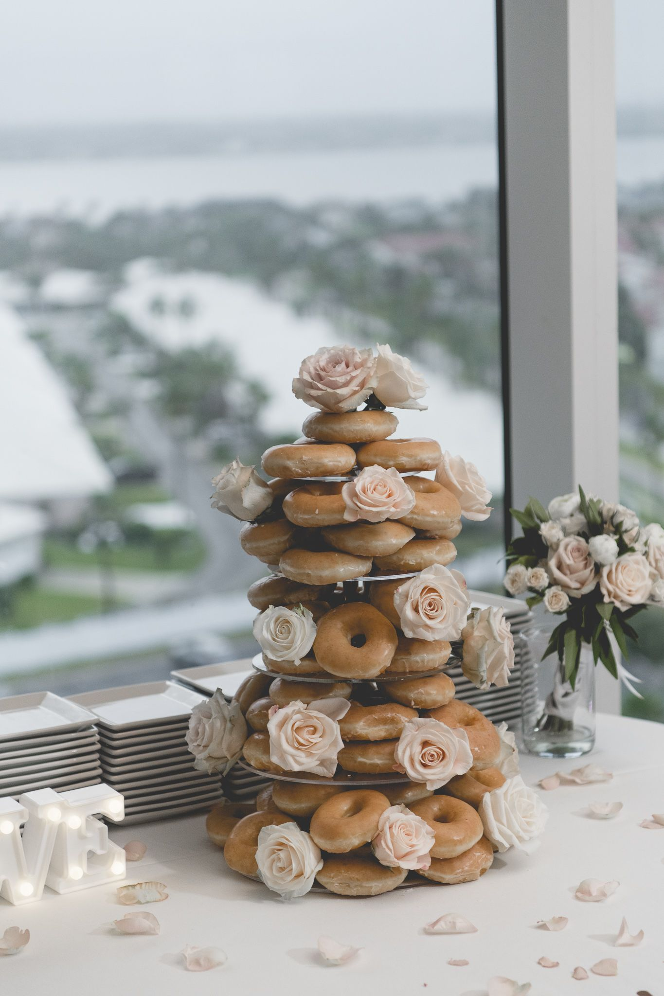 Wedding cake alternative donut cake donut wedding cake dessert