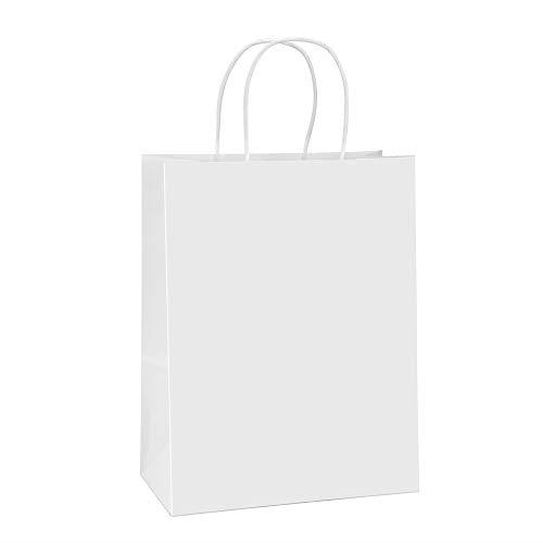 Advertisement Bagdream Paper Bags 10x5x13 100pcs White Kraft Paper Gift Bags Shopping Bags Paper Gift Bags Paper Gifts Paper Bag