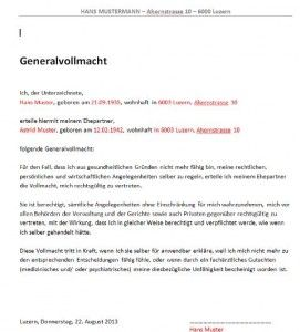 Vollmacht Vorlage | Muster und Vorlagen | Pinterest | Vollmacht ...