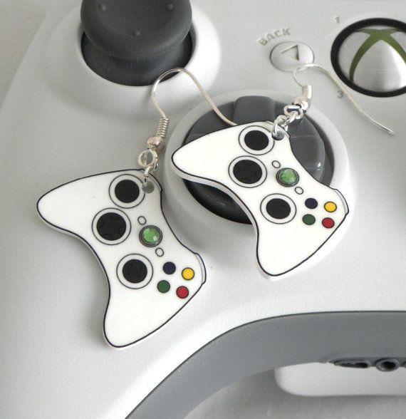 Xbox Controller Earrings. @Brooke Williams Baird (Rane) Baird (Rane) Kennedy if Matt was a girl.....