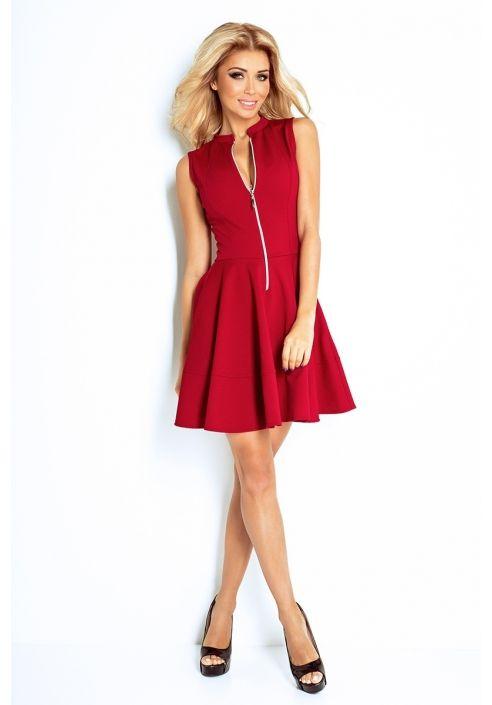Seksowna Wygodna Idealne Polaczenie Rozkloszowana Sukienka Z Zamkiem Z Przodu I Kieszonkami Idealnie Sprawdzi Sie Na Co Dzien Fashion Mini Dress Dresses