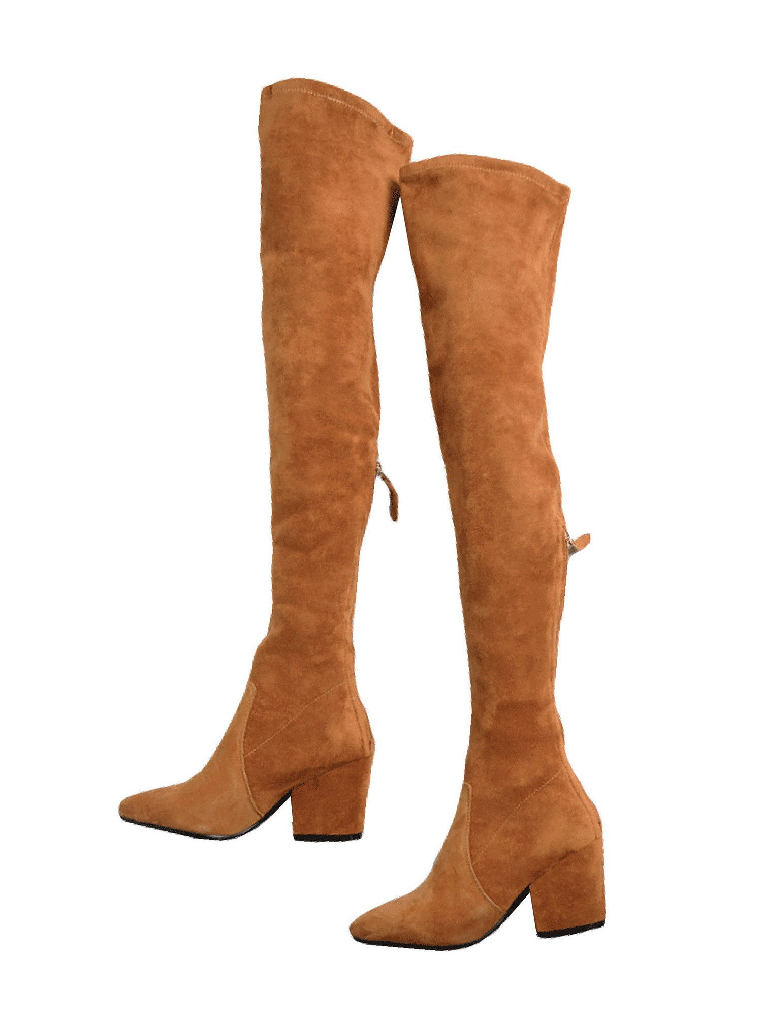 84b23bd354d Marlo  Tan Over The Knee Suede Leather Boots