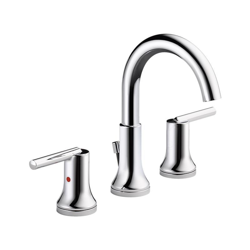 3559-MPU-DST Trinsic Chrome Widespread Bath Faucet w/ metal pop-up ...
