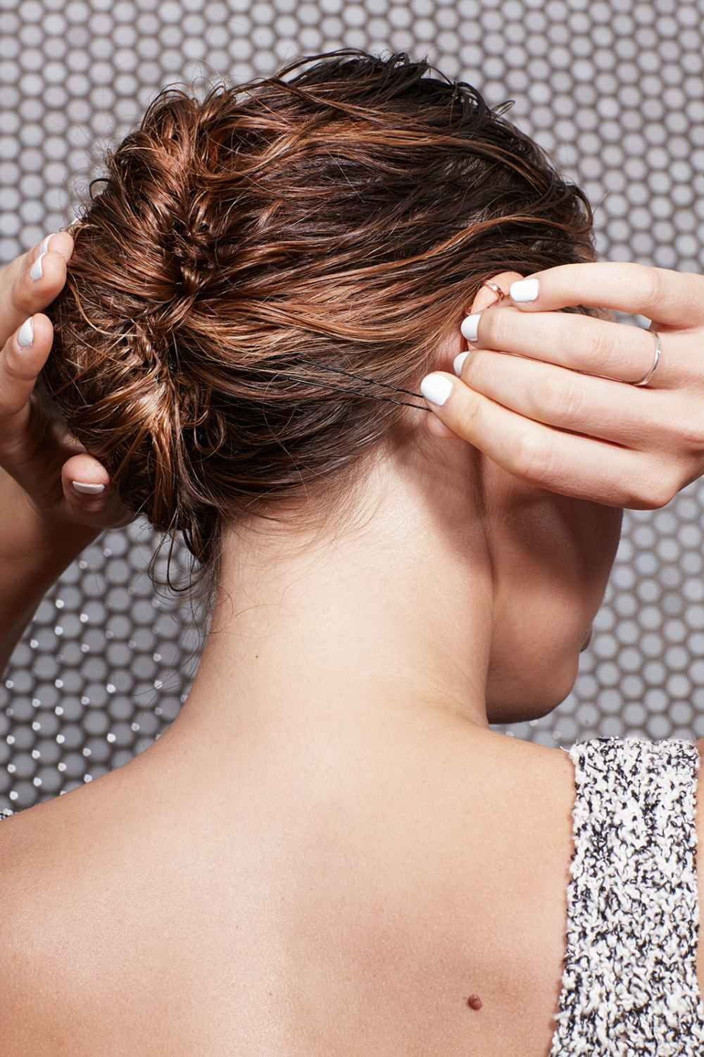 wet hairstyles to get you out the door fast style hair wet