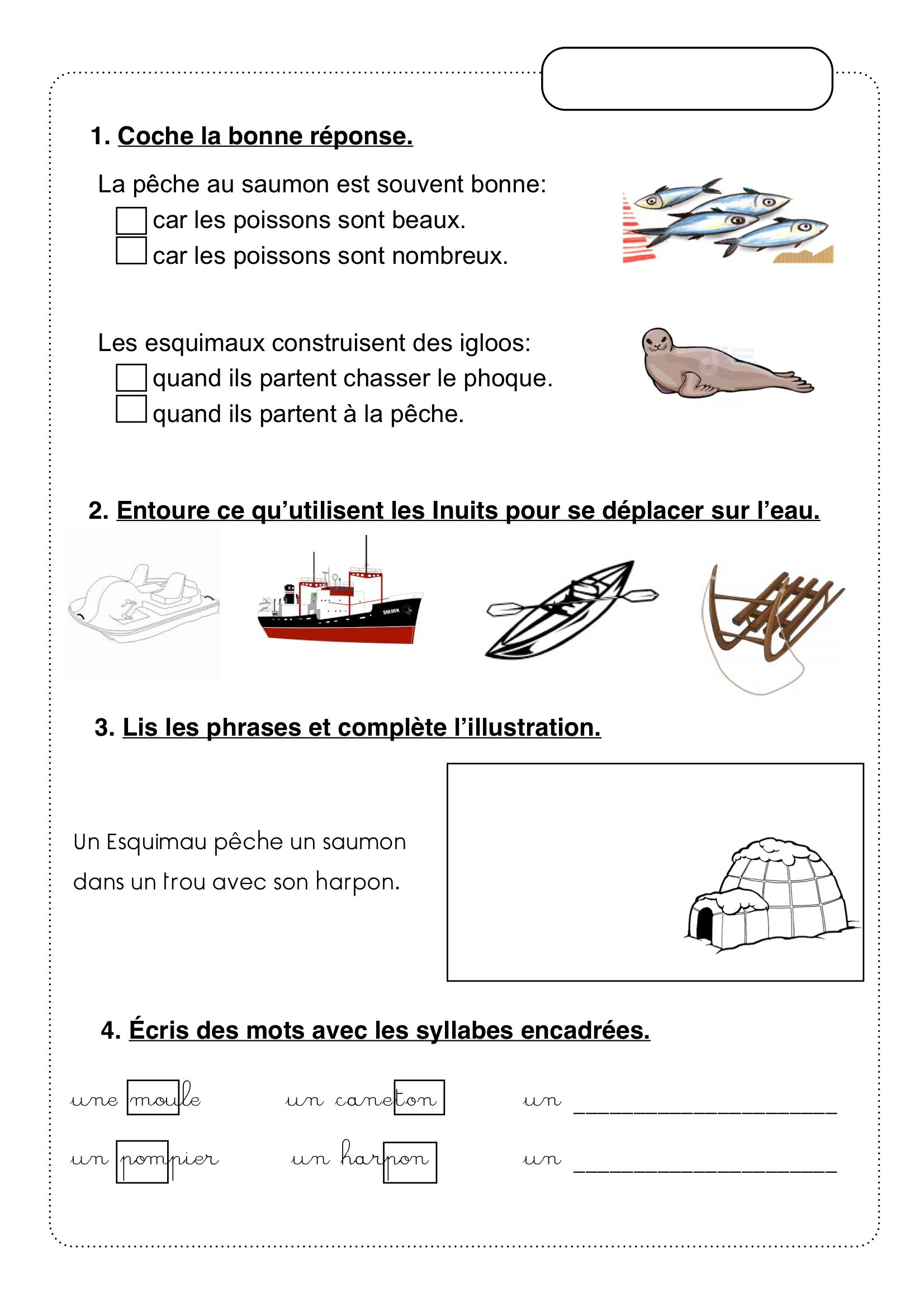 Unite 4 Le Monde D Abuk La Vie Des Inuits Methode De Lecture Lecture Le Monde